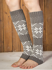 Christmas Snow Long Leg Warmers