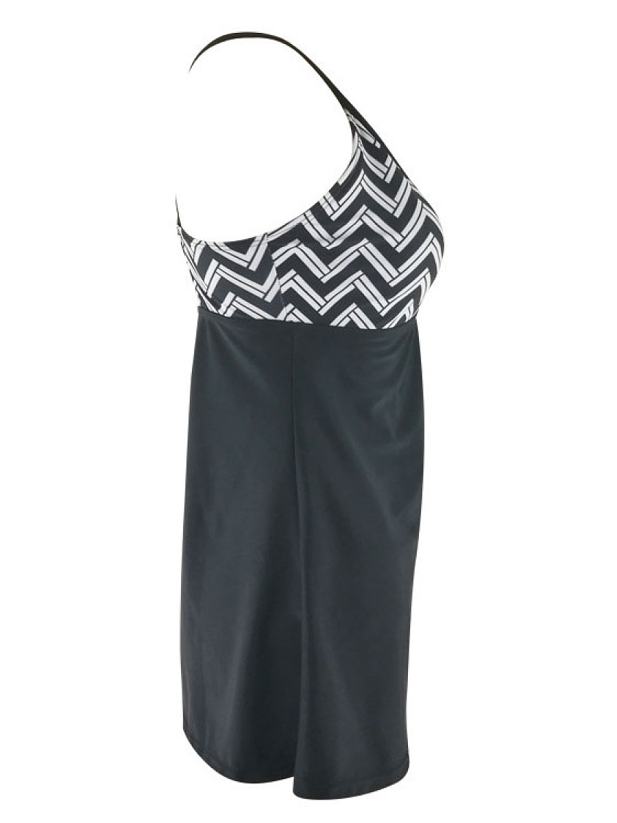 Asymmetric Stripe One Piece