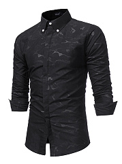 Camouflage-Button-Down-Collar-Men-Shirts