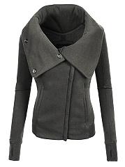 Fold-Over-Collar-Zips-Plain-Jacket