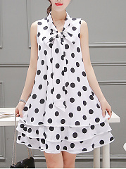 Summer-Tie-Collar-Polka-Dot-Chiffon-Mini-Shift-Dress