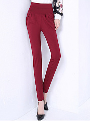 Plain-Pocket-Slim-Leg-Casual-Pants