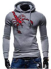 Men-Drawstring-Pocket-Lobster-Printed-Hoodie