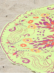 Delightful Printed Round Beach Shawl