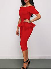 Off-Shoulder-Plain-Peplum-Midi-Bodycon-Dress
