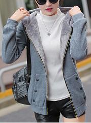 Hooded-Patch-Pocket-Zips-Plain-Long-Sleeve-Coats