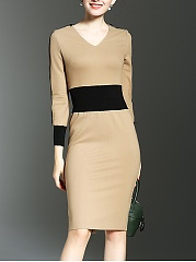 Two Way Color Block Bodycon Dress