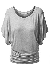Two Way Comfortable Plain Plus Size T-Shirt