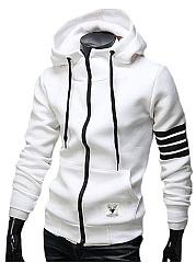 Hooded-Patch-Pocket-Striped-Men-Coat