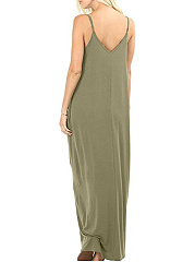 Spaghetti Strap  Plain Maxi Dress