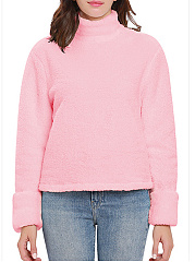 Plain  Long Sleeve Sweatshirts