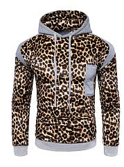 Leopard-Color-Block-Men-Hoodie