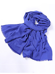 Women Solid Color Linen Scarf Soft Long Warm Wrap Shawl Scarves Stole
