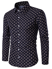 Men-Geometric-Printed-Turn-Down-Collar-Shirts