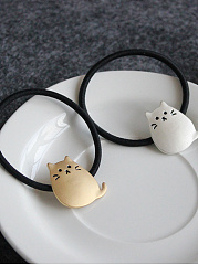 Cute Cat Elastic Rubber Band