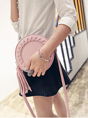 Small Candy Round Bag Knit Tassel Shoulder Bag