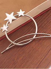 Star And Moon Shape Hair Clip