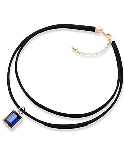 Blue Crystal Layer Choker Necklace