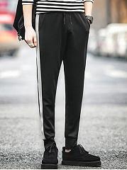 Mens-Elastic-Sport-Casual-Pant