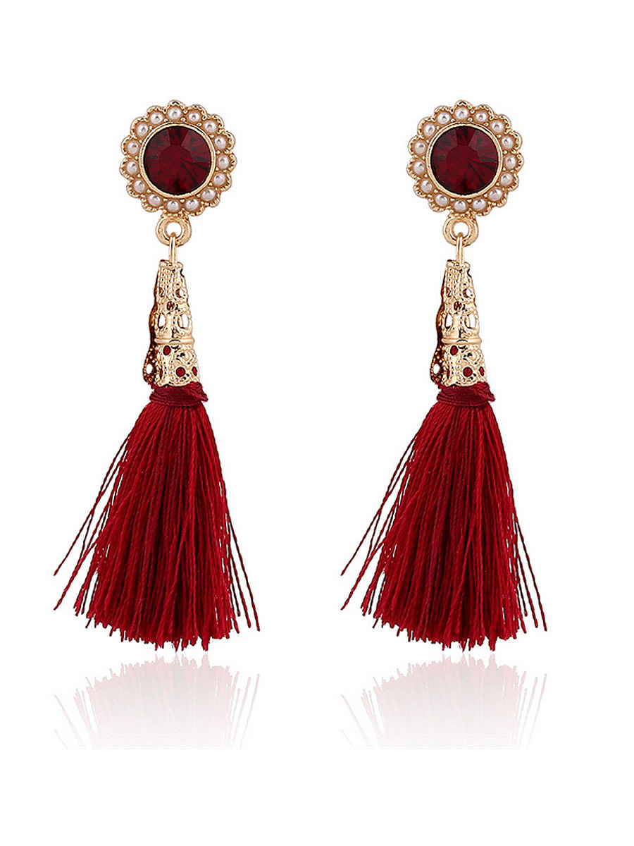 Pair Of Tassel Earrings For Woman