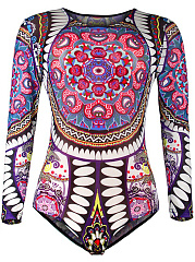 Glamorous-Round-Neck-Printed-Long-Sleeve-One-Piece