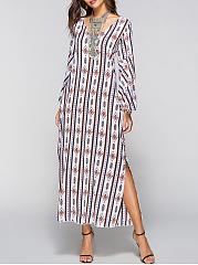 V-Neck-Printed-Maxi-Dress