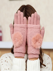 Soft Thick Woolen Knitted Gloves