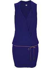 Surplice  Plain Bodycon Dress