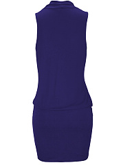 Surplice  Plain Bodycon Dress For Lady