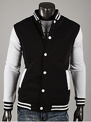Band-Collar-Striped-Men-Single-Breasted-Jacket