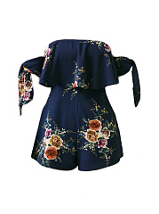 Off-Shoulder-Flounce-Floral-Printed-Romper-With-Tie-Sleeve