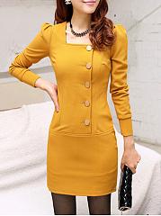 Square-Neck-Plain-Bodycon-Dress