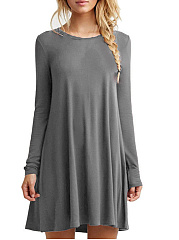 Round-Neck-Plain-Mini-Shift-Dress