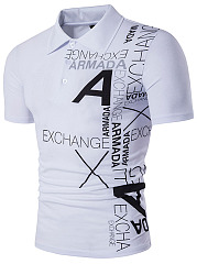 Polo-Collar-Men-Letters-Printed-T-Shirt