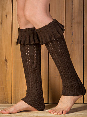 Hollow Out Flounce Leg Warmers