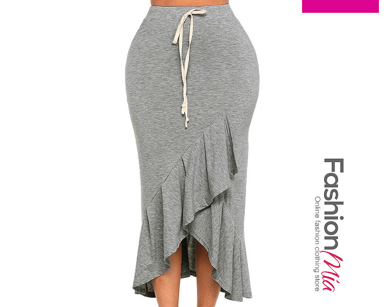 New Style Plain Straight Maxi Skirts For Women