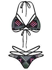 Geometric-Hollow-Out-Halter-Bikini