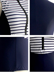 High Stretch Striped One Piece For Women