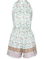 Halter-Backless-Light-Color-Printed-Romper