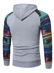 Stylish Printed Kangaroo Pocket Men Hoodie