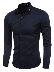 Plain-Decorative-Hardware-Men-Shirts