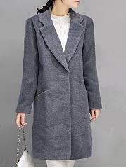 Lapel-Plain-Pocket-Long-Woolen-Coat