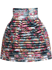 Printed-Flared-Mini-Designed-Skirt