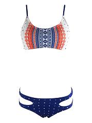 Nifty-Spaghetti-Strap-Cutout-Printed-Bikini