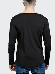 Men Cowl Neck  Plain T-Shirt