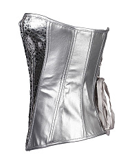 Women Sexy Glitter Shoulder Straps Training Bustiers Corset