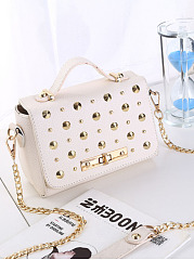 Gold Rivet Chain Crossbody Bag