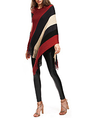 Tricoter Fringe Color Block Striped
