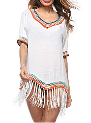 Plain National Bohemian Tunic For Women