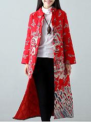 Band-Collar-Abstract-Print-Long-Sleeve-Coats